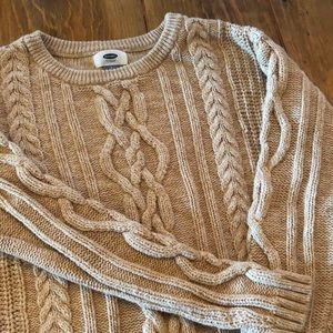 Old Navy tan cable knit sweater!